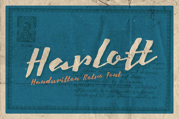 Harlott free fonts