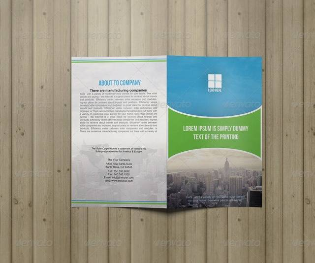 Business Brochure Bifold Template Vol04