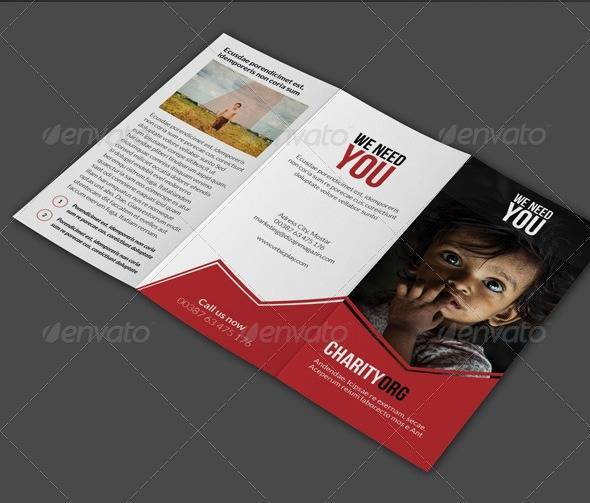 Charity 3fold Brochure - inDesign Template