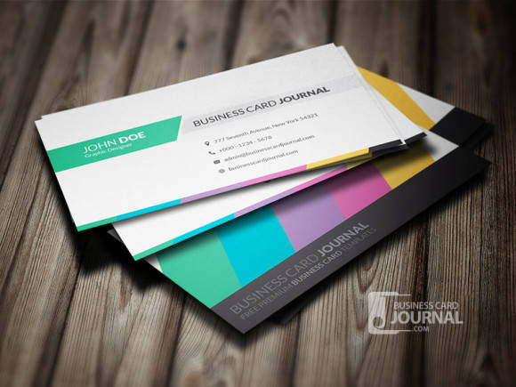 Clean & Creative Multicolor Business Card Template