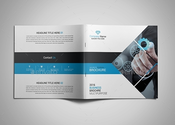 Corporate Bi-fold Square Brochure