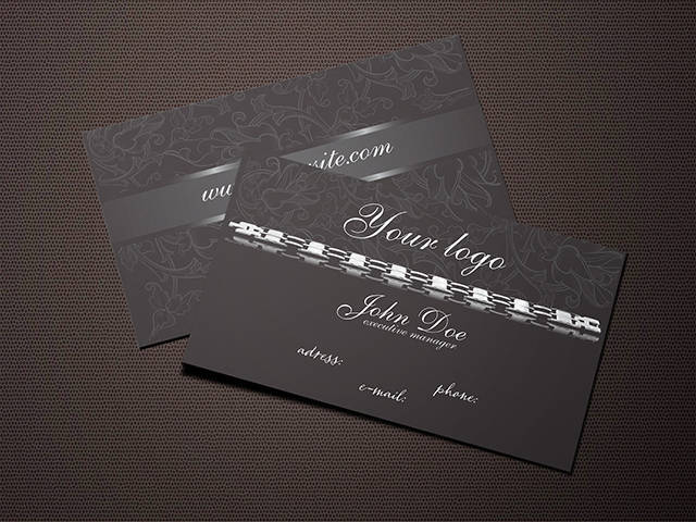 Dark Jewelry Business Card
