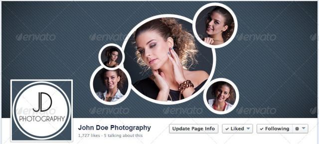 Facebook Timeline Plus Profile Image PSD