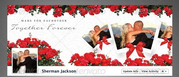 Lovers Facebook Timeline Cover PSD Template