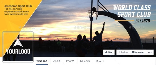 Sport Club Business Facebook Cover