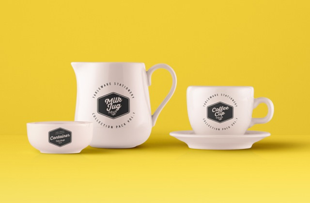 Tableware Psd Mockup Vol1