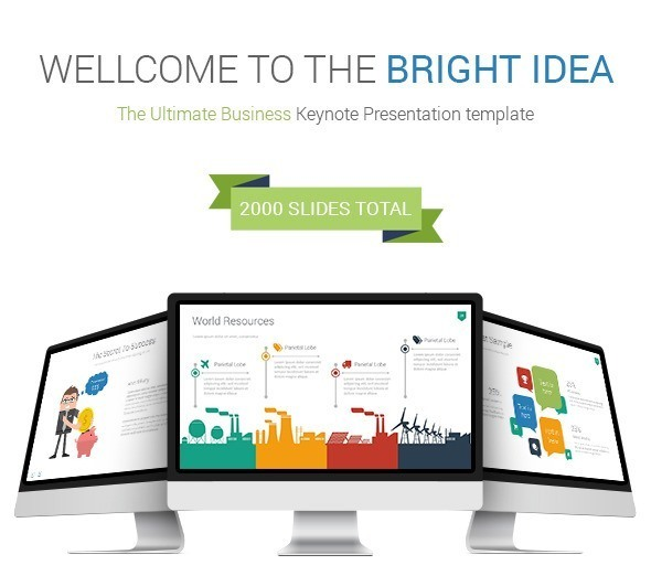 Bright Idea Keynote Presentation Template
