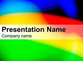 Three Colors Rainbow Free Keynote Template