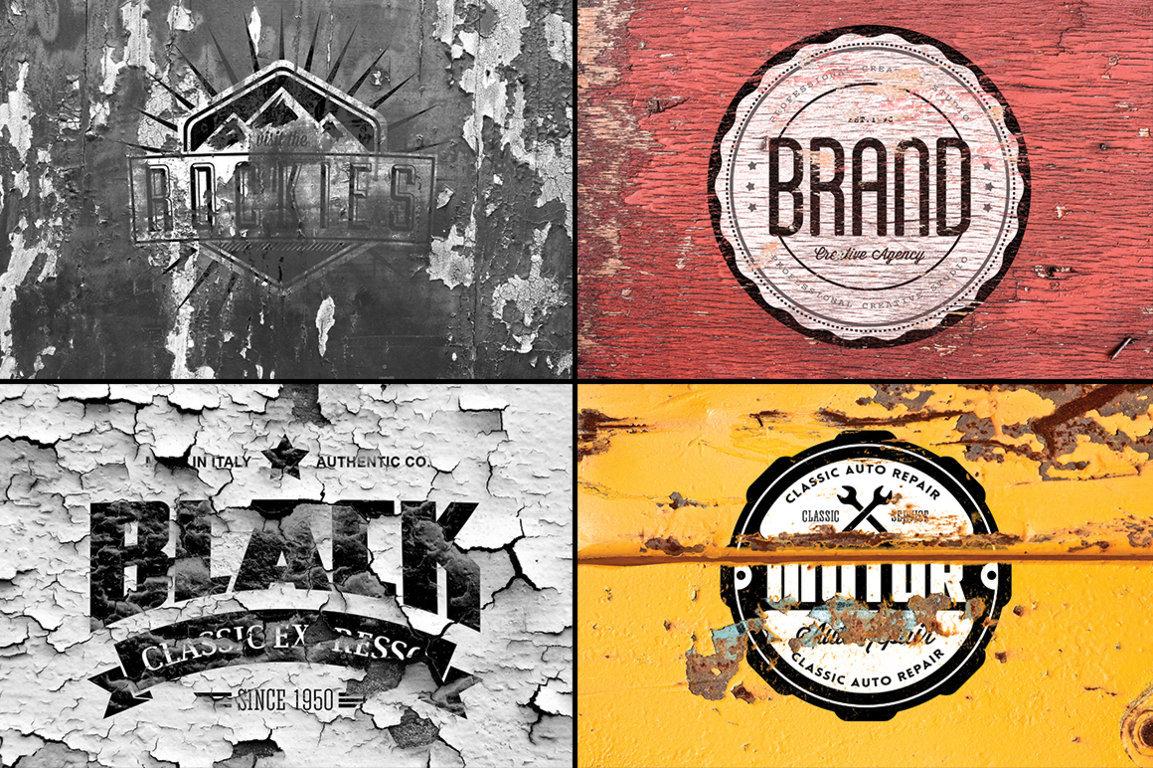 12 Vintage Logo Mockups