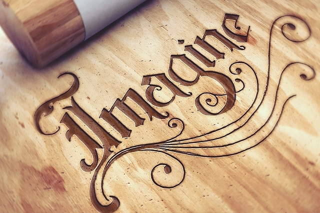 Engraved Wood Logo Mockups