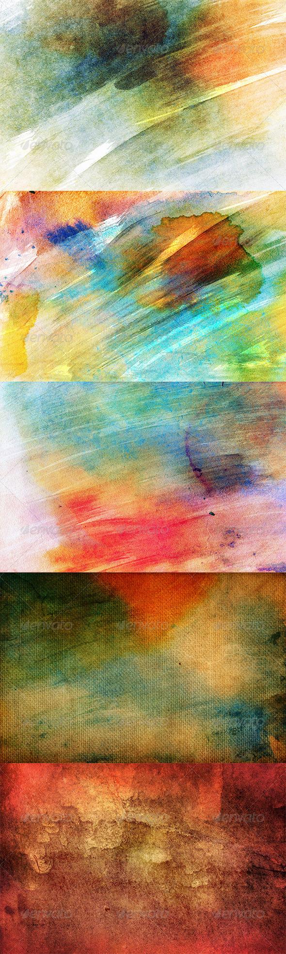 Vintage Watercolor Textures 2