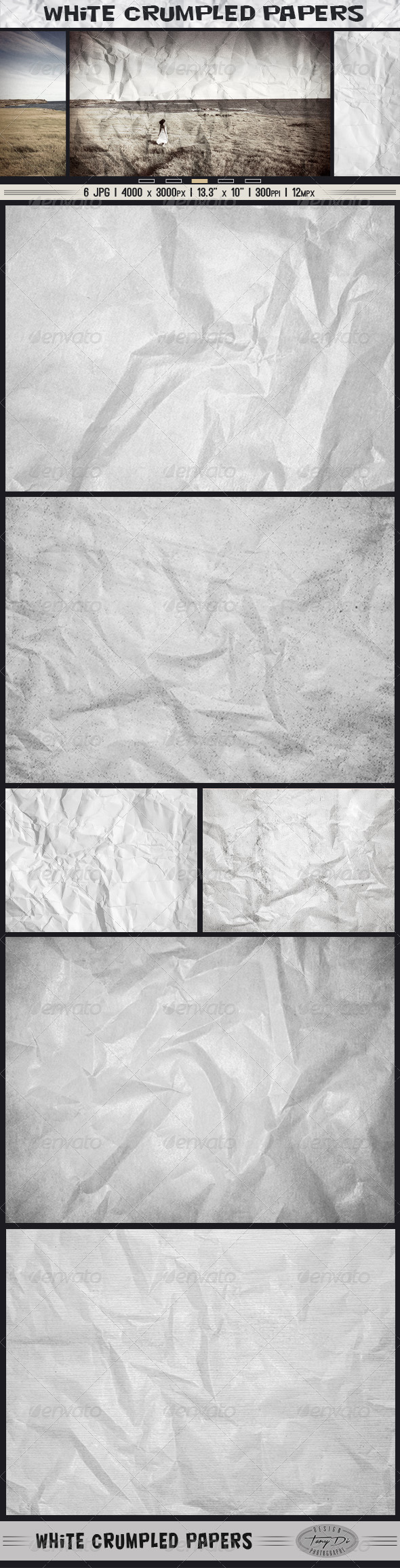 White Crumpled Papers