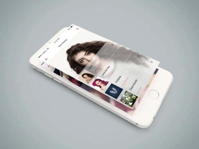 Isometric iPhone 6 PSD Mockup
