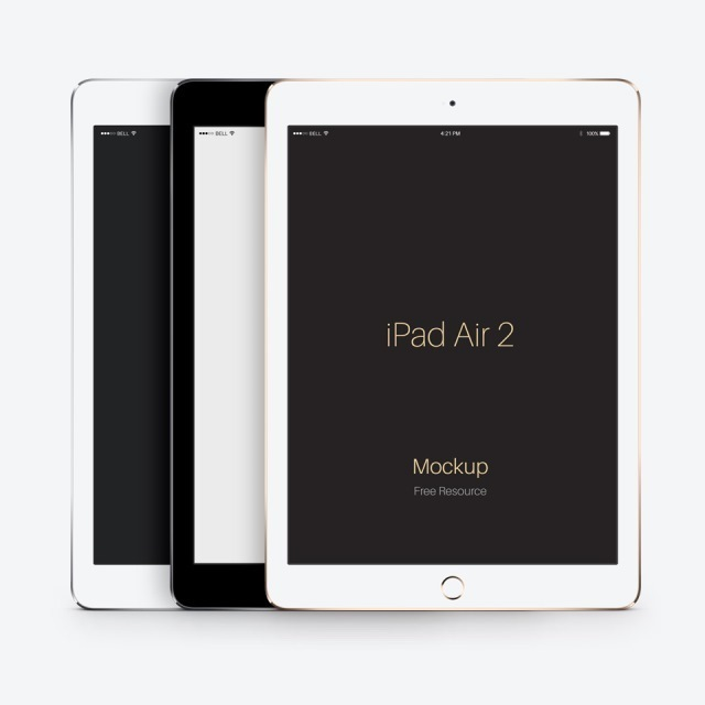 Psd iPad Air 2 Vector Mockup