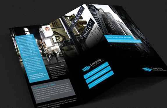 double sided tri fold brochure template - 60 free premium psd brochure templates webprecis