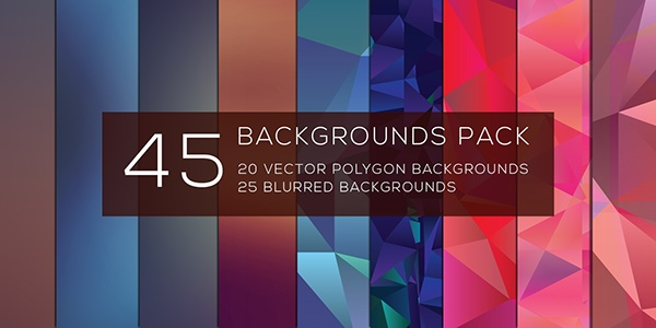 45 Polygon Backgrounds Pack
