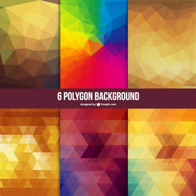 6 Polygon Backgrounds