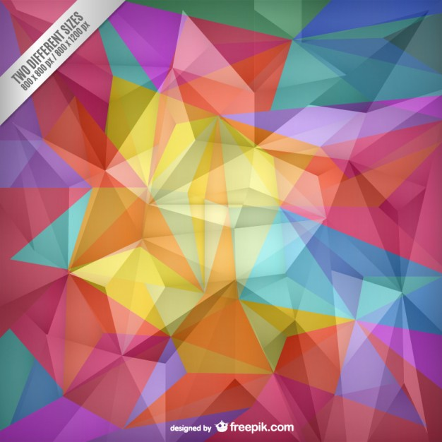 Color Polygons Background
