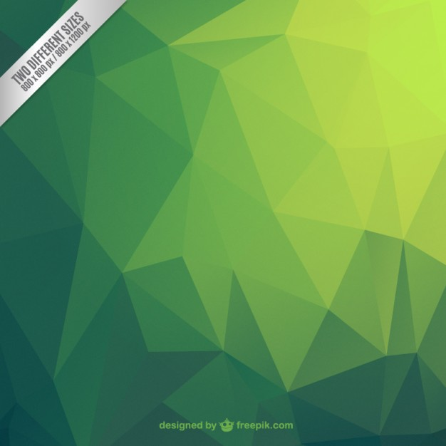 Green Abstract Polygonal Background