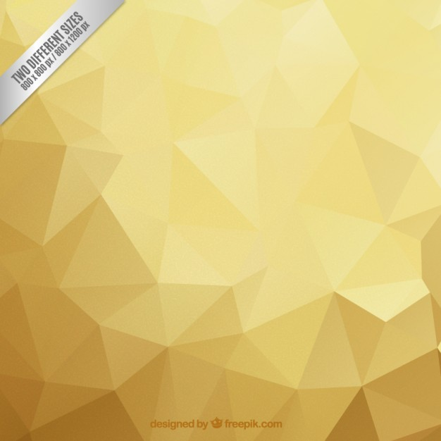Polygonal Background Golden Tones