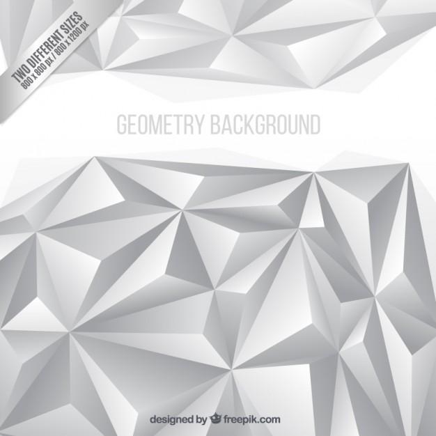 White Polygons Background