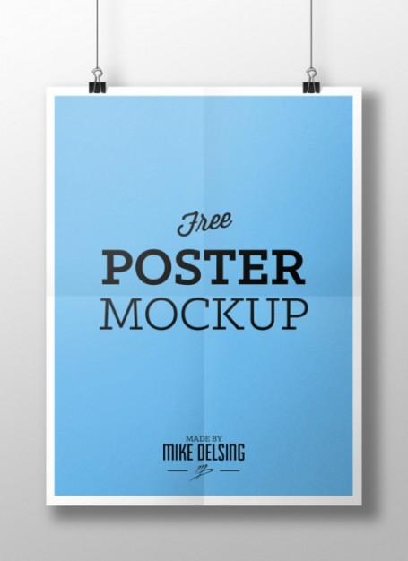 Blue Poster Mockup