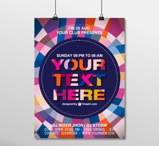 Geometric Poster Mockup