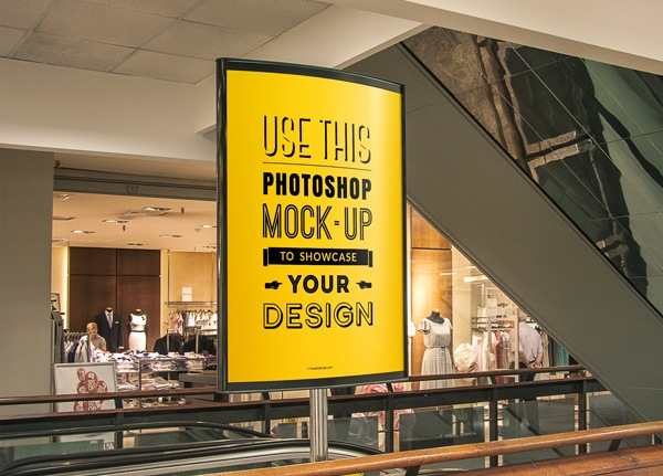 Indoor Advertising Poster Mockup