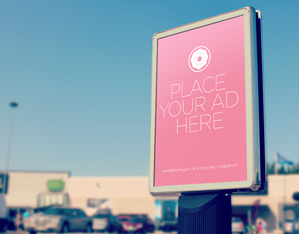PSD City Outdoor Billboard Mockup