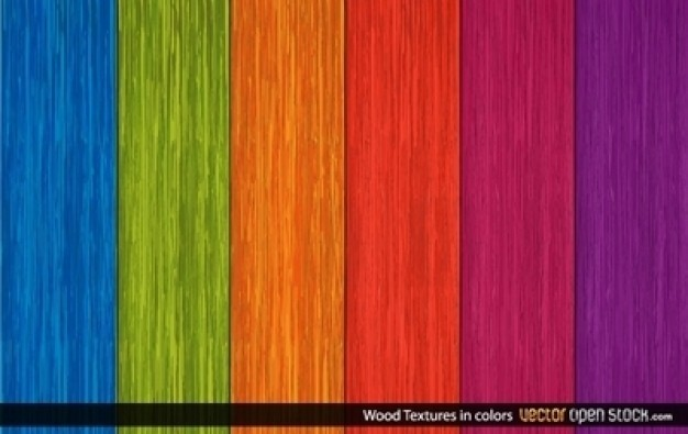 Wood Colors Texture Background Vector Set