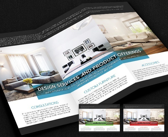 Interior Designer Tri-Fold Brochure (Free)