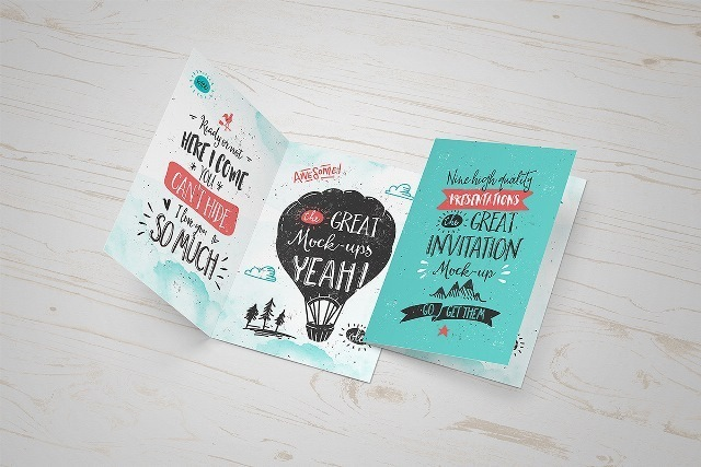 Invitation Greeting Card Mock Up