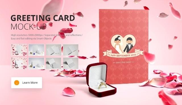 Invitation & Greeting Card Mockups