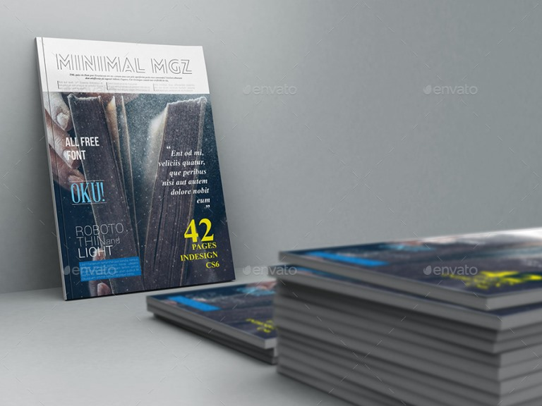 Minimal Magazine Template 42 Pages