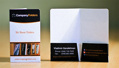 Mini 2 Pocket Business Card Folder