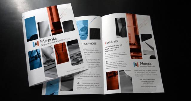 Free Premium PSD Brochure Templates Webprecis - Bi fold brochure template