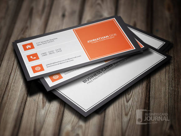Orangey Metro Style Business Card Template