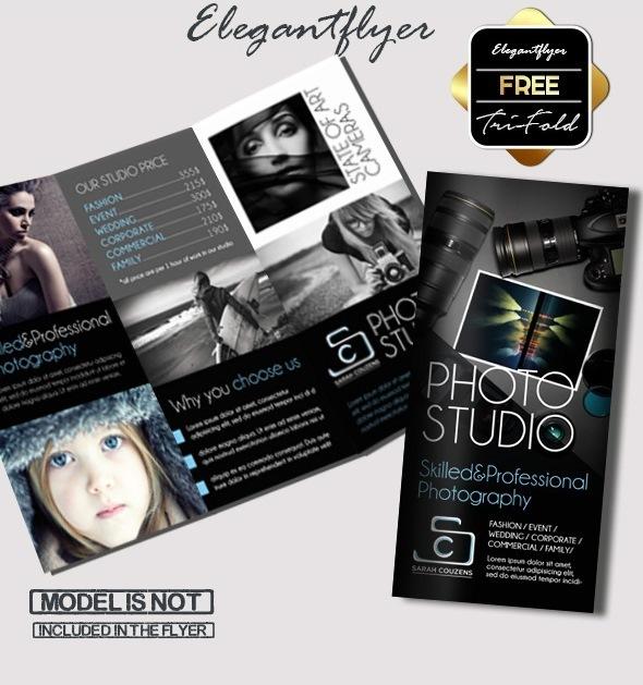 Free Photographer Tri-Fold PSD Brochure Template