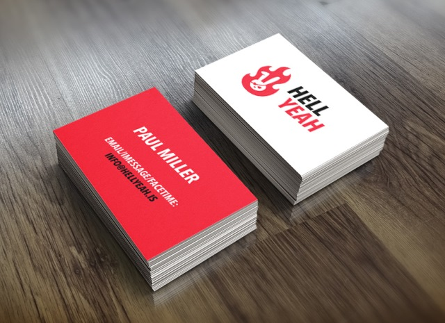 Hell Yeah - Business Cards Mockups