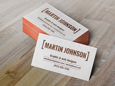 Letterpress Business Cards Mockup (Free PSD)