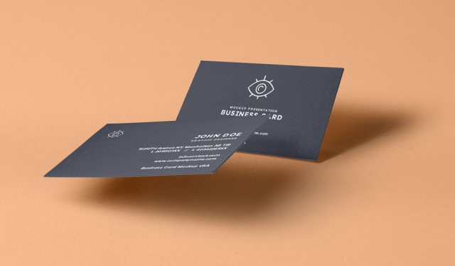 PSD Business Card Mock-Up Vol30