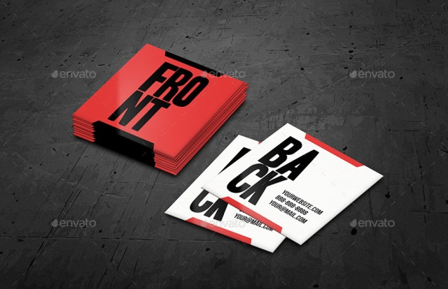 Square Business Card Mockups Vol.2