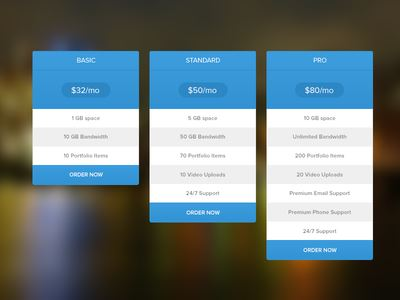 Pricing Table (Free PSD)