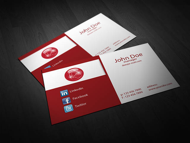 Red Corporate Business Card Template Vol. 01