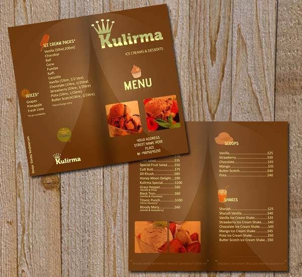 Restaurant Menu Brochure PSD (Free)