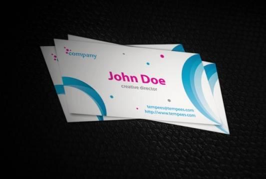 Ribbon business card