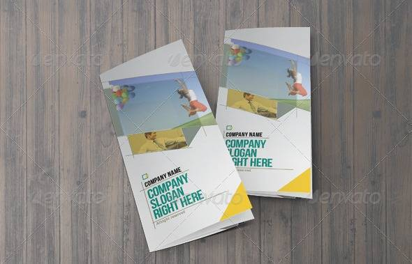 Shear Trifold Brochure Template
