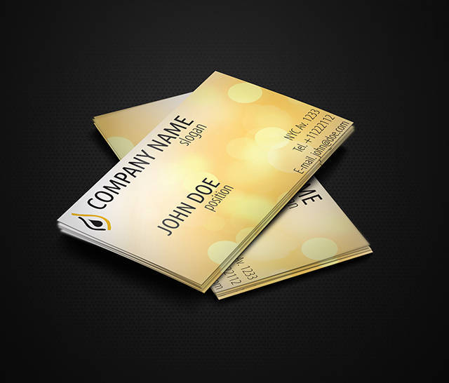 Shiny Yellow Business Cards