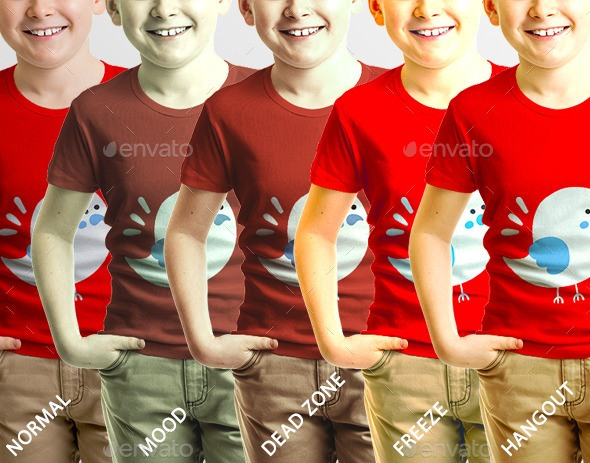 Kids T-Shirts Mock-Ups