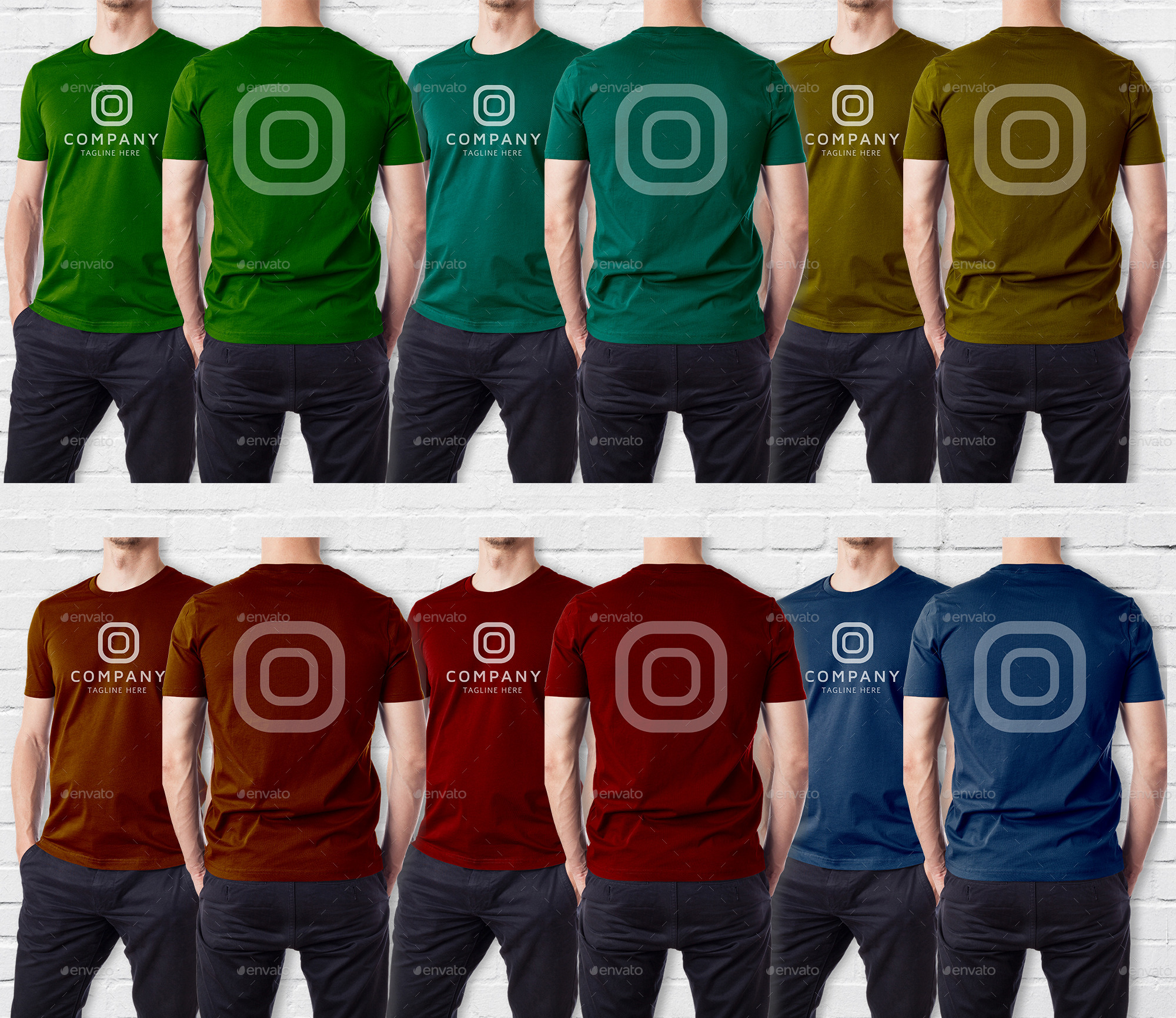 Men Multipurpose Tshirt Mock Up